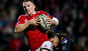 Munster player with ball