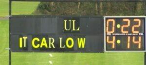 UL vs IT Carlow scoreboard