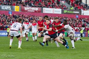 Rory Scannell in action against Toulouse