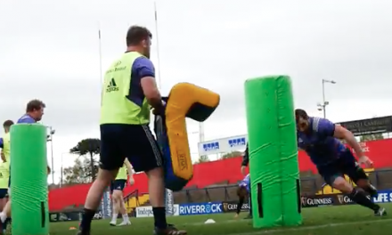 Video from Munster's Open training session this week