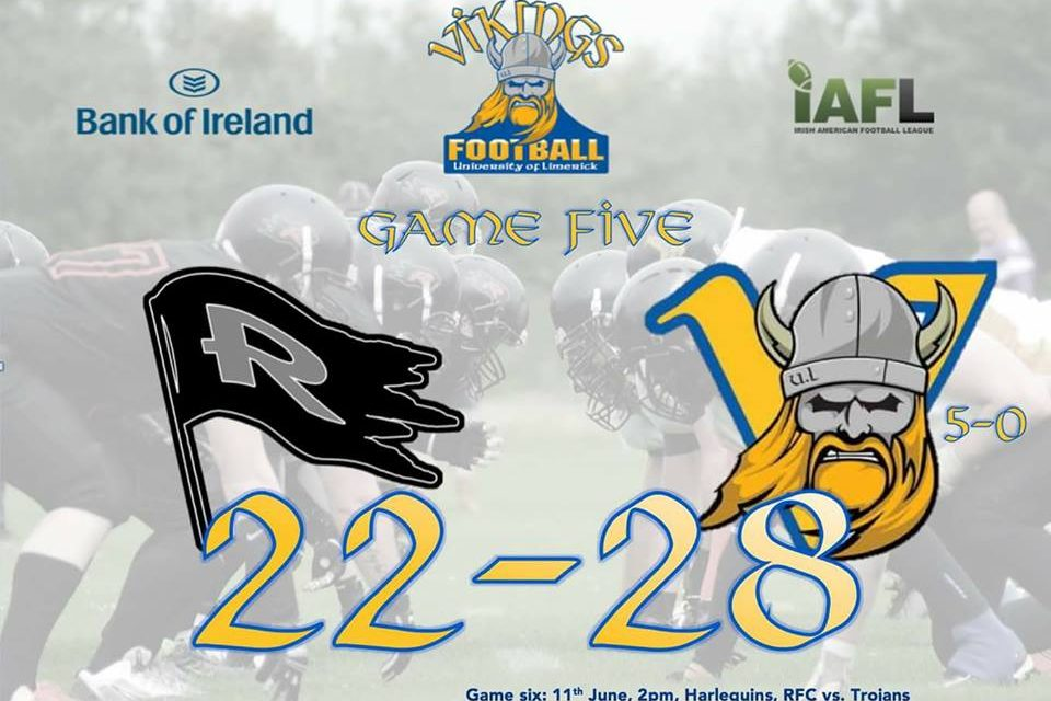 UL Vikings move to 5-0 with close win over Dublin Rebels