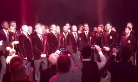 WATCH: Lions players sing Fields of Athenry