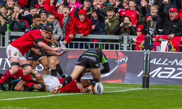 Munster Book PRO12 Final Place With Three-Try Display