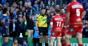 steff evans red card