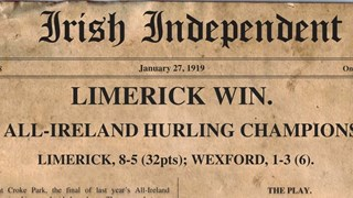 "A look back at the ""Science"" behind Limerick's 1918 All-Ireland win"