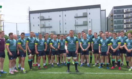 WATCH: Irish Rugby team wish Lions captain Peter O'Mahony good luck