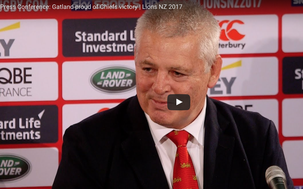WATCH: Gatland pleased with finishing after Lions victory over Chiefs