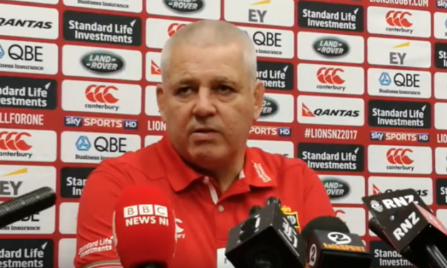 WATCH: Gatland placing all his eggs in second test basket