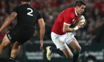 Johnny Sexton played the final Lions test with a broken wrist