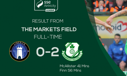 Limerick's winless run continues as Shamrock Rovers win 2-0 at Markets Field