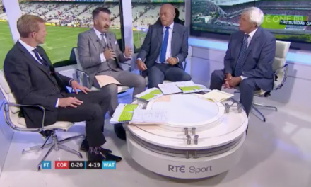 WATCH: Donal Óg Cusack questions Sunday Game punditry live on air