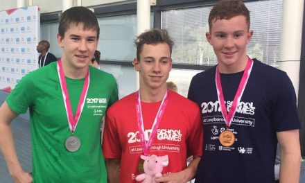 Triple medal haul for Eoin Corby at 2017 School Games