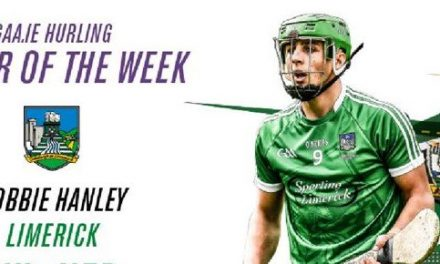 Robbie Hanley voted GAA.ie hurler of the week