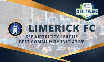 Limerick FC win 2017 Best Community Initiative at SSE Airtricity League's Club Awards