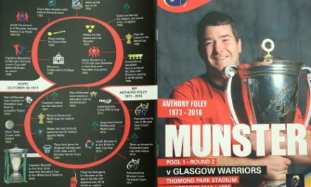 Over €39K Raised From Special Anthony Foley Match Day Programme