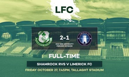 Limerick FC lose 2-1 away to Shamrock Rovers in season finale