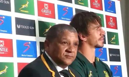 WATCH: Springboks Coach Allister Coetzee's thorny response to Van Graan question