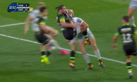 WATCH: Do you think Owen Farrell's hit on Ben Foden was legal?