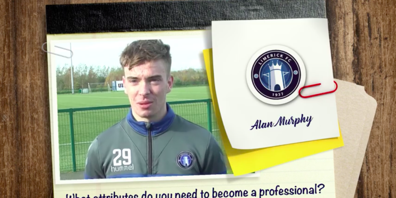 WATCH: Limerick FC Under 19's player Alan Murphy discusses life in the academy