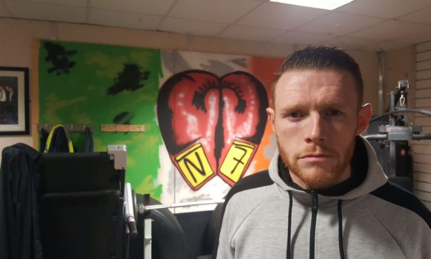 McCormack O'Shea gets ready for second professional contest