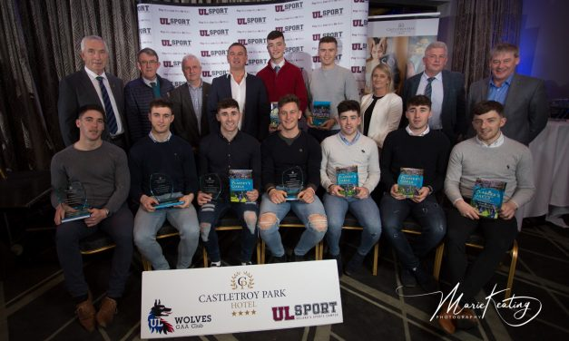 Nine members of Limerick's U21 All Ireland winning team honoured by UL GAA