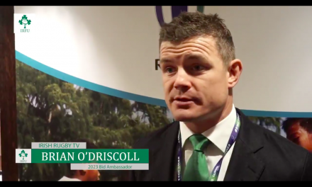 WATCH: Brian O'Driscoll's reaction to Ireland losing out on the 2023 World Cup bid