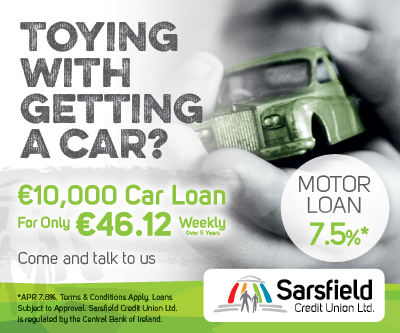 Sarsfield Credit union ad Toying with getting a new car