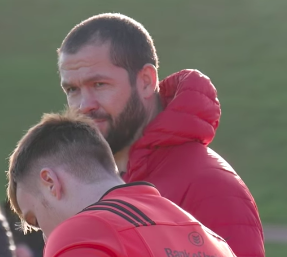 Andy Farrell to continue Munster defence role for the time being