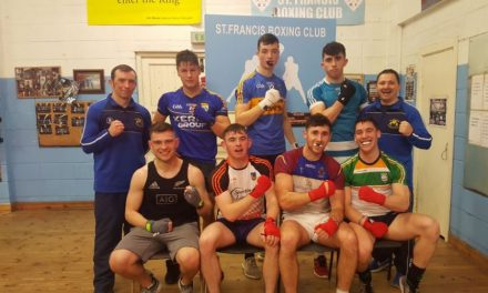 Watch – Limerick senior hurlers raring to go for Night of Boxing Fundraiser