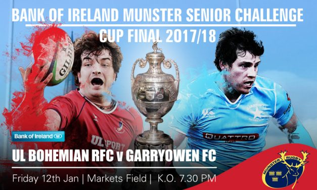 Sporting Limerick and the Limerick Leader will live stream Munster Senior Cup Final between Garryowen and UL Bohs