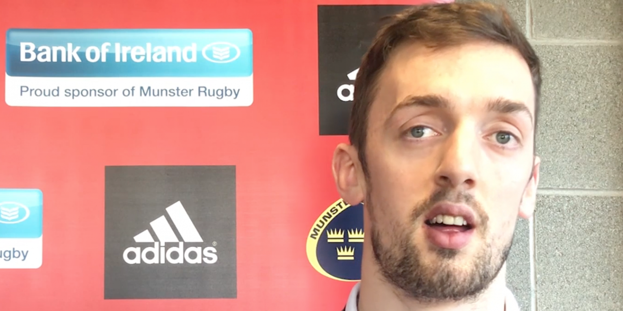 WATCH: Munster's Darren Sweetnam happy with return from injury and looking to seize opportunity
