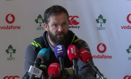 WATCH: Irish Coach Andy Farrell discusses Ireland V Wales clash