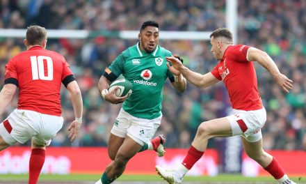 Five try Ireland keep Grand Slam bid on track with breath taking victory over Wales