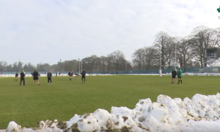 WATCH – Irish Rugby team training in Carlton House