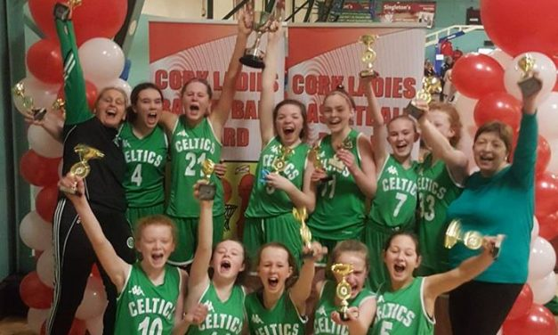 Limerick Celtics win the Under 13 Cork Girls Division One Cup