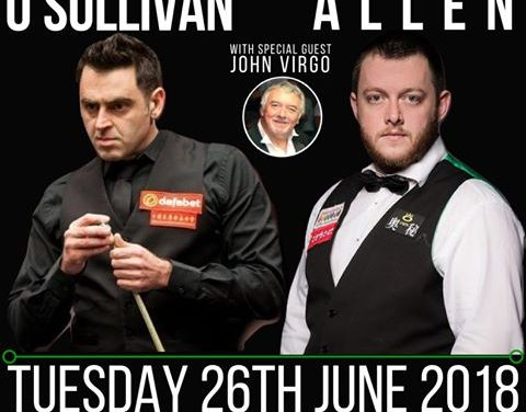 Ronnie O'Sullivan to play Mark Allen in Limerick's South Court Hotel
