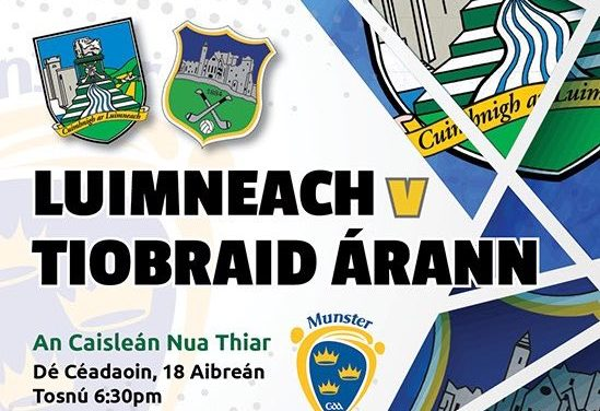 Limerick host Tipperary in Munster minor football championship play-off