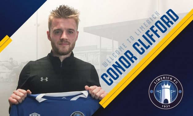 Ex Chelsea midfielder Conor Clifford puts pen to paper for Limerick FC following ban