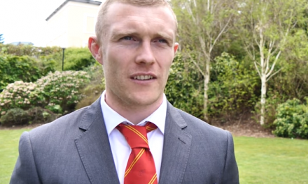 WATCH – Keith Earls and Sammy Arnold accept their player of the year awards