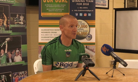"WATCH: Darragh Droog says ""performance"" is key for Limerick minors"