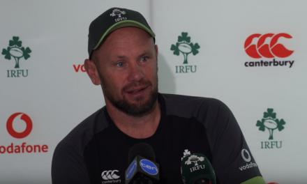 WATCH – Scrum coach Greg Feek on Irish captaincy ahead of opening test in Australia