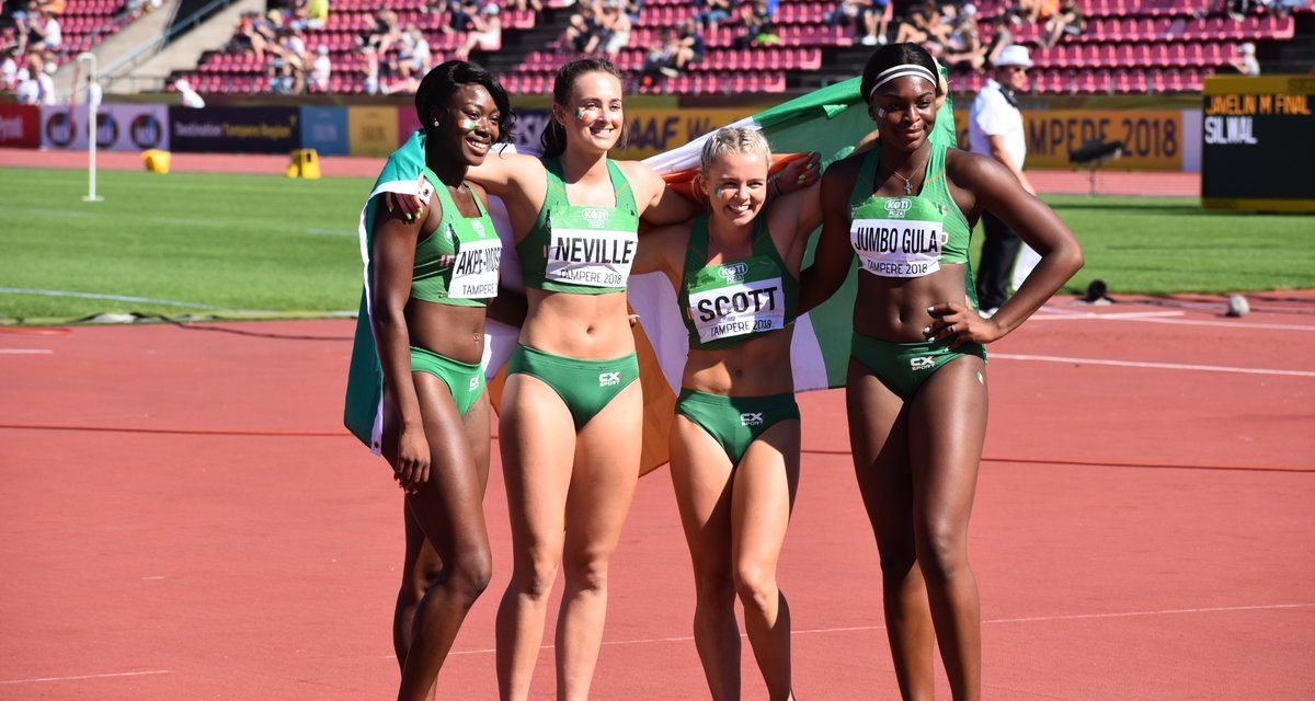 WATCH: Ciara Neville part of historic relay silver at World U20 Championships