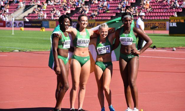 WATCH: Ciara Neville part of historic relay silver at World U20 Championships