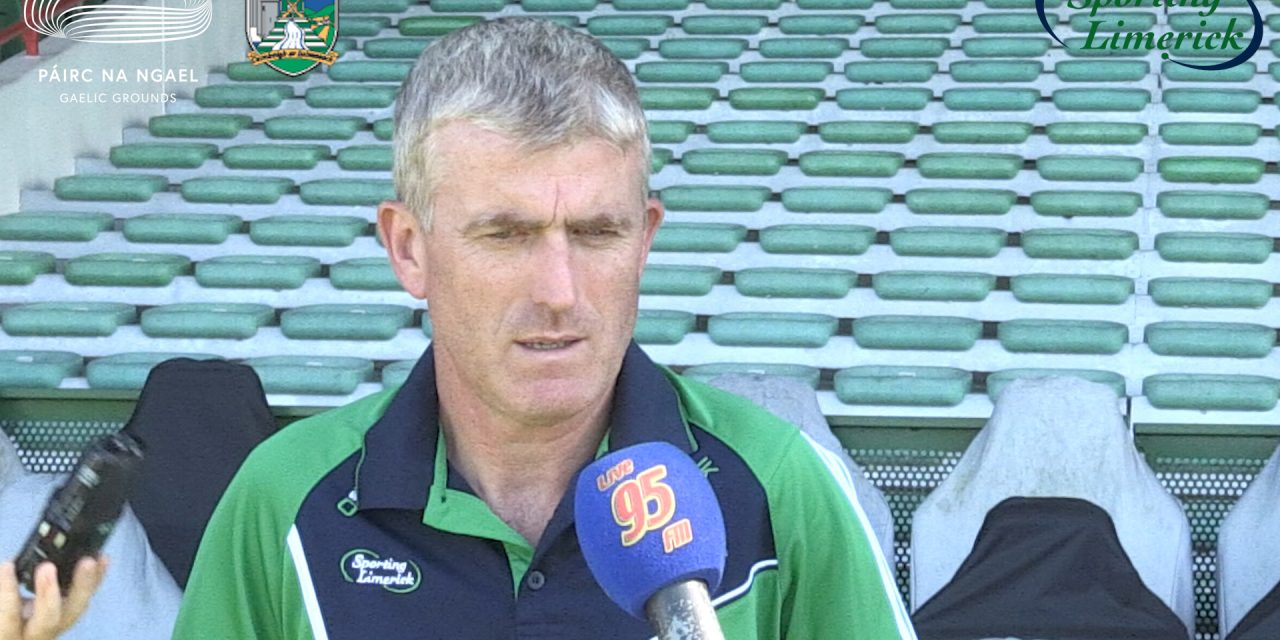 "WATCH: John Kiely says Limerick ""will give it 110% on Saturday night"""