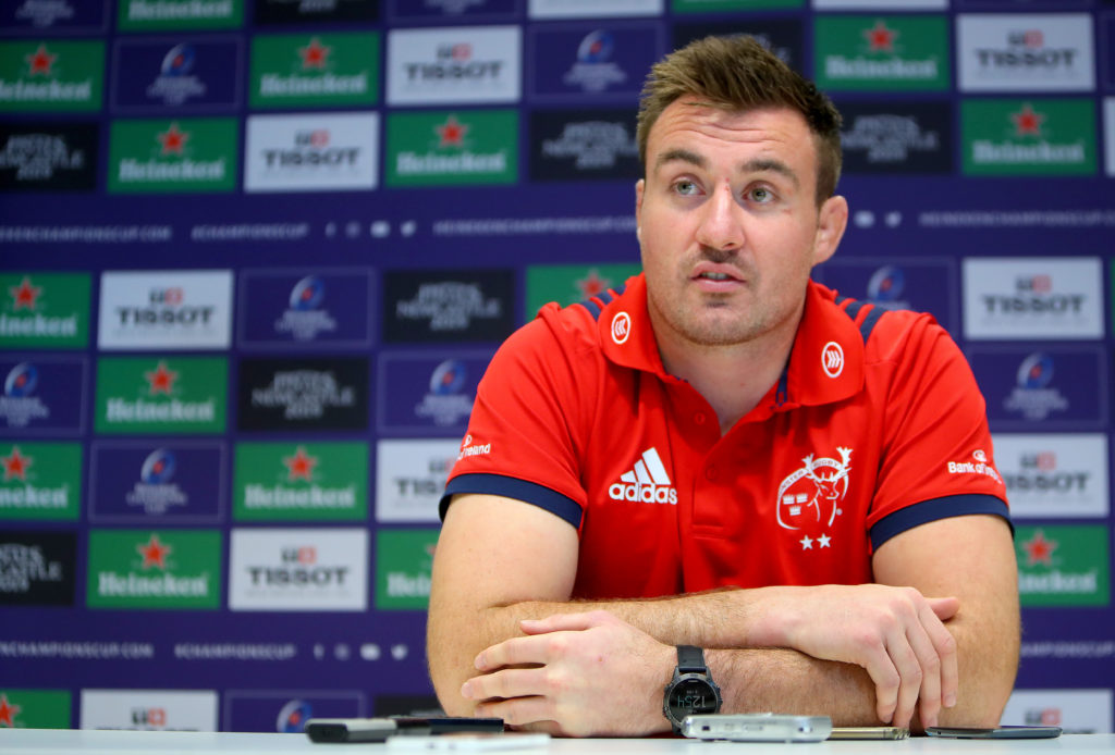 Munster Rugby Press Conference, UL, Limerick 15/10/2018 Niall Scannell Mandatory Credit @INPHO/Oisin Keniry