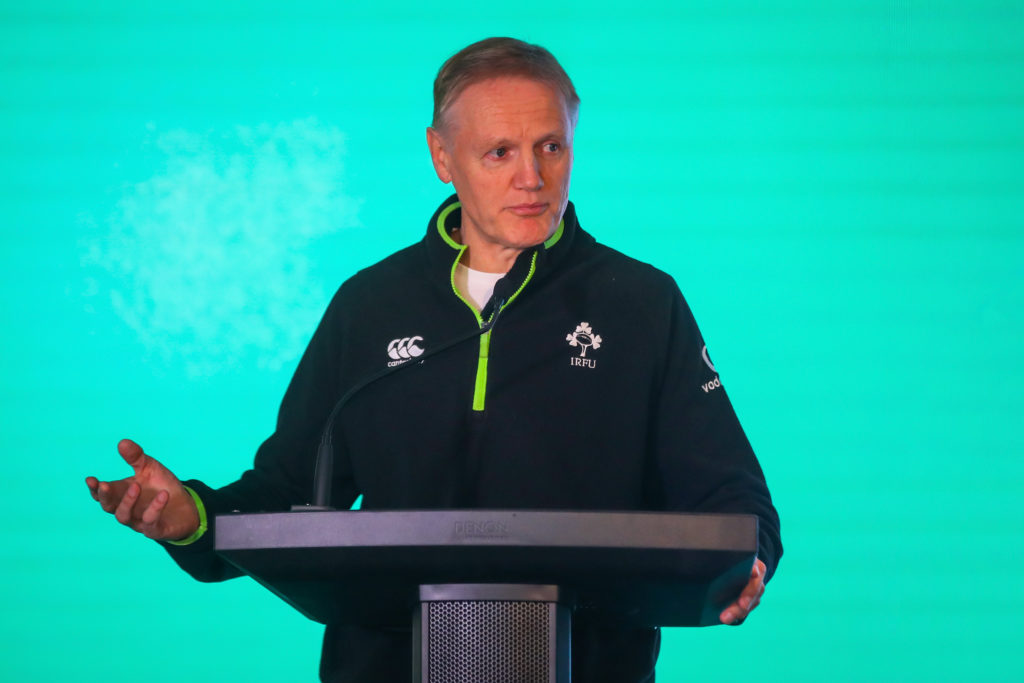 REPRO FREE***PRESS RELEASE NO REPRODUCTION FEE*** EDITORIAL USE ONLY Spirit of Rugby Conference, Aviva Stadium, Dublin 13/1/2019 Ireland rugby men's head coach Joe Schmidt  Mandatory Credit ©INPHO/Oisin Keniry