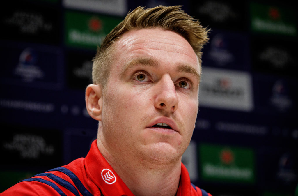 Munster Rugby Press Conference, UL, Limerick 14/1/2019 Rory Scannell Mandatory Credit ©INPHO/Ryan Byrne