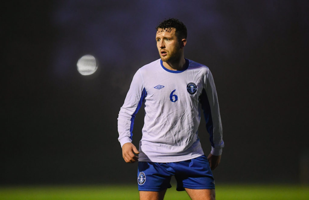 19 January 2019; Jason Hughes of Limerick during a pre-season friendly match between Finn Harps and Limerick at the AUL Complex in Clonshaugh, Dublin. Photo by Stephen McCarthy/Sportsfile