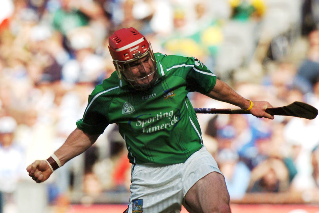 12 August 2007; Andrew O'Shaughnessy, Limerick, celebrates after scoring a goal against Waterford. Guinness All-Ireland Senior Hurling Championship Semi-Final, Limerick v Waterford, Croke Park, Dublin. Picture credit; Paul Mohan / SPORTSFILE