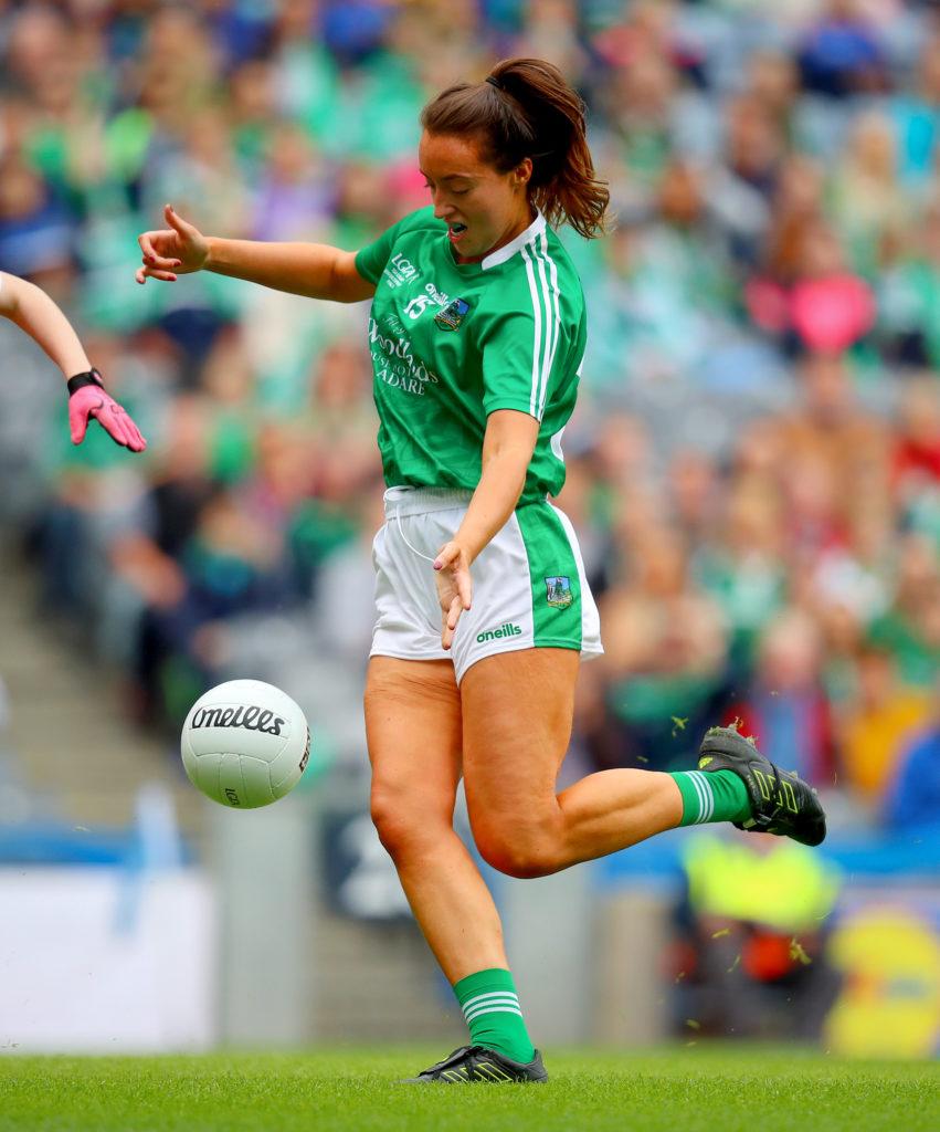 TG4 Ladies Football All-Ireland Junior Championship Final, Croke Park, Dublin 16/9/2018 Limerick vs Louth Limerick's Mairead Kavanagh scores a goal Mandatory Credit ©INPHO/Oisin Keniry